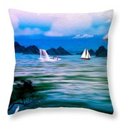 On A Lazy Day Series 3 Throw Pillow