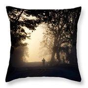 On A Morning Jog Throw Pillow