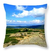 On A Mountain In Maine Throw Pillow