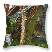 On A Seabed I Rested Throw Pillow