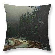 On A Snowy Evening Throw Pillow