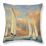 On A Windy Day Throw Pillow