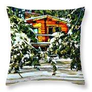 On A Winter Day Throw Pillow by Steve Harrington