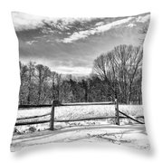 On A Winters Day Throw Pillow