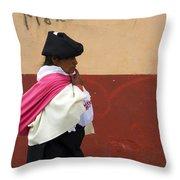 On An Errand In Otavalo Throw Pillow