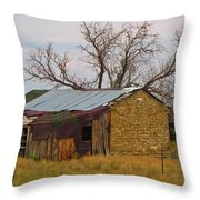 On An Old Country Road Throw Pillow