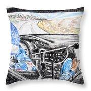 On Board Colin Mcrae Throw Pillow