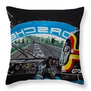 On Board Stefan Belloff Nurburgring Record Throw Pillow