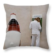 Painter On Call Throw Pillow