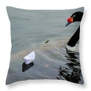 On Converging Course - Featured 3 Throw Pillow by Alexander Senin