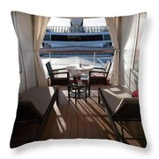 On Deck 4 Throw Pillow