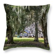 On Destrehan Plantation Throw Pillow