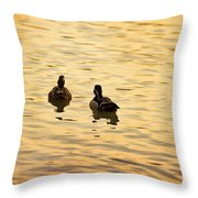 On Golden Pond Ducks Throw Pillow