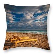 On Golden Sands Throw Pillow