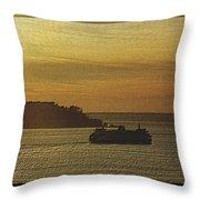 On Golden Sound Throw Pillow