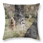 On Guard - Featured In Comfortable Art Group Throw Pillow