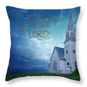 On Hallowed Ground - Bible Verse Throw Pillow