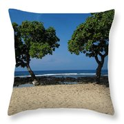 On Hawaii's The Big Island Throw Pillow