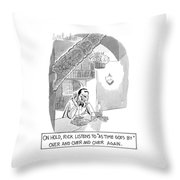 On Hold, Rick Listens To 'as Time Goes By' Throw Pillow