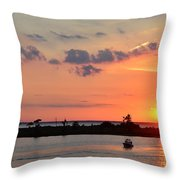 On Lake Maurepas Throw Pillow