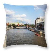 On Moscow River - Russia Throw Pillow