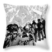 On Mount Blanc Throw Pillow