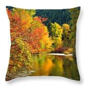 On Nason Creek Throw Pillow