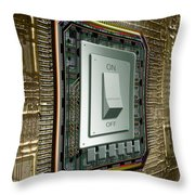 On Off Switch On Circuits Throw Pillow