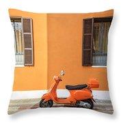 On Orange Street Throw Pillow