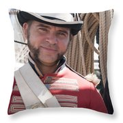 On Parade As A Marine Throw Pillow