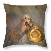 On Stage The Trumpeter Throw Pillow
