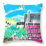 On The Alsace Wine Route Throw Pillow