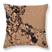 On The Beach 01 Throw Pillow
