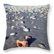 On The Beach Apple Murex Throw Pillow