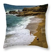 On The Beach - Dubrovnic Throw Pillow