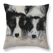 On The Border Throw Pillow