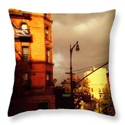 On The Boulevard Throw Pillow