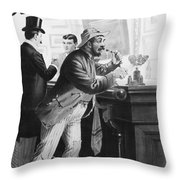 On The Bowery, 1894 Throw Pillow