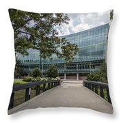 On The Bridge At Wharton  Throw Pillow