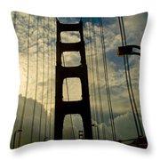 On The Bridge Throw Pillow