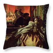 On The Brink, 1865 Throw Pillow