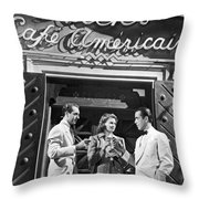 On The Casablanca Set Throw Pillow