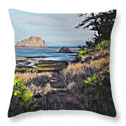 On The Coast Throw Pillow
