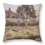 On The Common Hambledon Surrey Throw Pillow