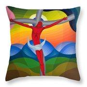 On The Cross Throw Pillow