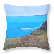 On The Dunes Perranporth Throw Pillow