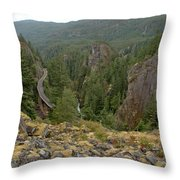 On The Edge Of The Cheakamus River Gorge Throw Pillow