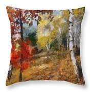 On The Edge Of The Forest Throw Pillow