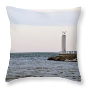 On The End Throw Pillow