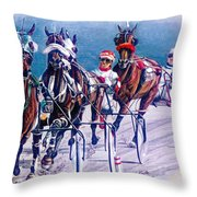 On The Engine Throw Pillow